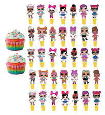 Lol Doll Surprise Puppe Eßbar Tortenaufleger Muffin Aufleger Party Deko Figur