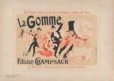 JULES CHERET La Gomme Par Felicien, Art Nouveau Belle Epoque Poster