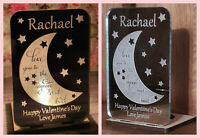 Personalised Valentine's Gift Tea Light Candle Holder Gifts for Her Him Silver