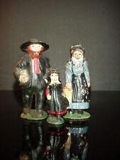 Antique Cast Iron Amish Pilgrim Toy Figure Family Girl Statue