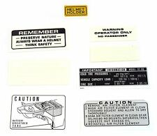 Warning and Service Label Decal Set - 1973-1975 Honda ST90 ST 90 Decals