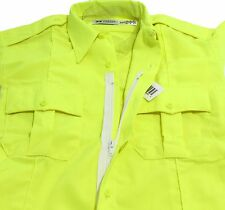 HI-VIS HORACE SMALL SENTRY S/S ZIPPER SHIRT HI-VISIBILITY SAFETY YELLOW 15 SMALL