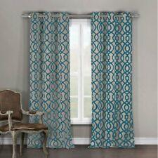 Higgenbotham Geometric Light Filtering Thermal Grommet Curtain Panels