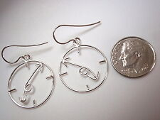 Clock Dangle Earrings 925 Sterling Silver Corona Sun Jewelry Time