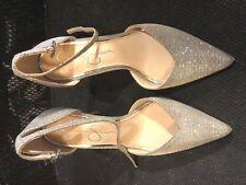 """Shoes, JESSICA SIMPSON, silver sparkles, classic pump, 4"""" stilletto, SZ: 6 1/2M"""