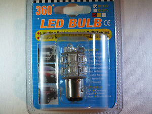 Patented Red Super-Bright LED Double Bayonet Offset Bulb (12v) Truck Tailer Car
