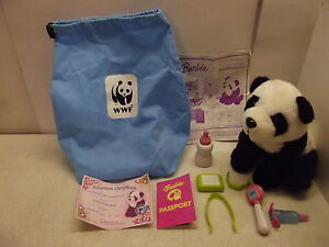 BARBIE WILDLIFE DOCTOR CARE N CURE PANDA PLUSH W/ACCESSORIES LIGHTS UP & TALKS