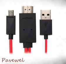 2m colorful Micro USB MHL to HDMI adapter for android cellphone and HDTV