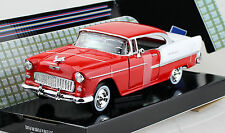 CHEVROLET Bel Air CABRIO GIALLO CON rimovibile HARD TOP 1955 1//18 Motormax moda...
