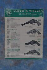 VINTAGE SMITH & WESSON S&W HANDGUNS SALES BROCHURE GUN CATALOG