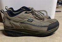 Sketchers Shape Ups Pebble Brown Suede Toning Shoes 52000 Mens Size 11