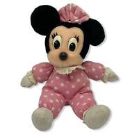 "Disney Parks Babies Minnie Mouse Pink 14"" Plush Stuffed Toy Walt Disney World"