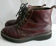 Rare Vintage Zodiac Brown Leather Chukka Hiker Ankle Boots Vibram Outsoles 8 1/2