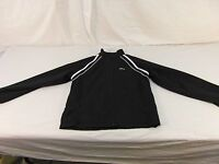 Adult Men's Reebok Black White Stripe Full Zipper Track Workout Jacket 30667