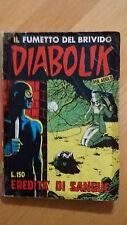 DIABOLIK seconda serie n.4 / 1965  eredità di sangue  Sodip  ORIGINALE