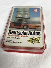 Berliner Spielkarten Auto Quartett 6316787 Deutsche Autos
