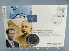 2 Euro Numisbrief Luxemburg - 50. Geburtstag von GROSSHERZOG HENRI 2005 Eiamaya