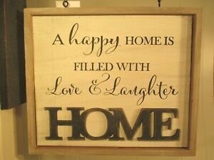 """""""HOME"""" SIGN"""" Replacement Sign - Wood Sign for Country Arrow Holders"""