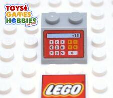 *NEW* LEGO Light Bluish Gray 2x2 Slope Printed Cash Register Machine City Store