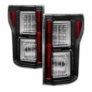 Spyder 5083487 Light Bar LED Tail Lights; Pair; Black For 15-17 Ford F-150 NEW