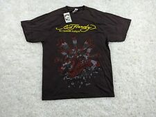 NEW Ed Hardy Tee Shirt Mens XL Extra Large Brown Red Dragon Audigier $120 Deisgn