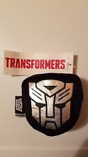 Transfomers Autobots Plush Silver Emblem Luggage Tag with Small Zipper Pouch NEW