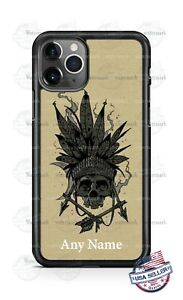 Customized Native Indian Skull Head Phone Case For iPhone Samsung S20 LG Google