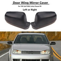 Matte Black For VW Golf MK4 98-04 Door Wing Mirror Cover Casing Shell Right Left