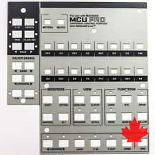 Mackie Universal Control Surface MCU Pro Lexan Overlay for Ableton Live