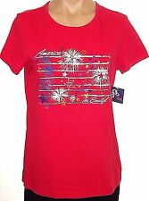 New Holiday Editions M, medium Red America Graphic T-shirt top short sleeve