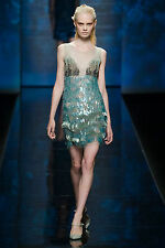 ALBERTA FERETTI 1.1K UK 8 BEADED SEQUIN TOP -SS 13 RUNWAY COLLECTION-BEADED-SEA