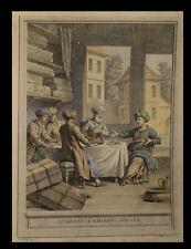 [TURQUIE TURKIYE LA FONTAINE] OUDRY (Jean-Baptiste) - Le Bassa et le marchand.
