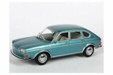 GENUINE VW TYPE 411 TURQUOISE METALLIC 1:43 SCALE DIECAST COLLECTORS MODEL CAR