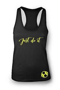 Just do it Gym Vest Women Racerback Yoga Workout Vest Tank Sports Top Clothes