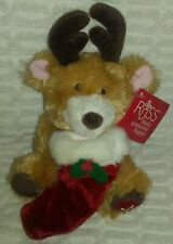 """8""""Russ Gift Card Holders Teddy Bear With Xmas Music Plush With Tags"""