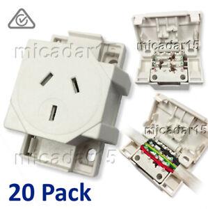 20 Pcs x QUICK CONNECT Surface Socket Plug Base Outlet - Inc GST & Tax inv