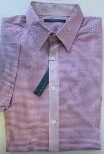 NWT Perry Ellis Short Sleeve Casual Shirt Gingham BIG Size 2X