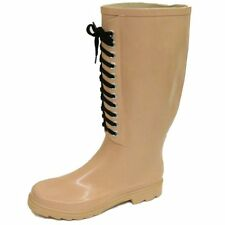 Unbranded Block Heel Lace Up Boots Rubber for Women