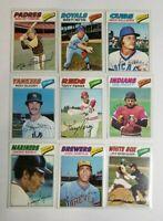 1977 Topps Baseball - Cards #441-660 - Set Break - Choose From The List (3 of 3)