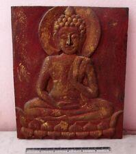BLESSED VINTAGE Teak Wood Buddha Wat Phra That Lampang Luang GOLD LEAF