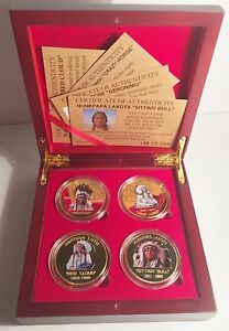 2015 Boxed Set of 4 x 1 oz Indian Chief Coins Limited to only 1000 Sets