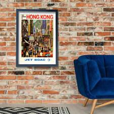 The Orient Is Hong Kong Jet Boac Wall Art Poster Print