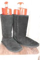 Bearpaw Black Suede Winter Size 12 Women's Boots
