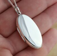 TO CLEAR 925 Sterling Silver Large Oval Photo Picture Locket  Pendant Jewellery