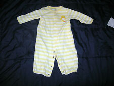Carter's Just One You Striped Duck Romper Sleep n Play Baby Boy's Girl's 6 Mos