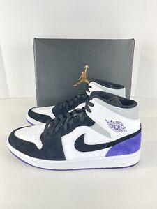 Nike Air Jordan 1 Mid SE Varsity Court Purple Size 11 852542-105