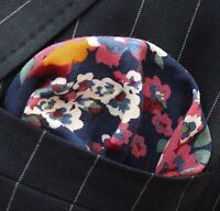 Hankie Pocket Square Cotton Handkerchief Black with White Rectangle Stripe CH214