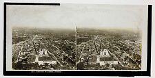 Portugal Panorama de Tomar Photo Plaque stéréo Lachenal & Favre ca 1865