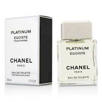 Chanel PLATINUM EGOISTE Pour Homme 50ml 1.7oz Eau De Toilette Spray New Sealed