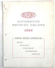 1964 CHEVROLET PONTIAC OLDSMOBILE CADILLAC BUICK DUPONT COLOR PAINT CHIP CHART